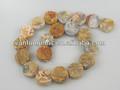 Loco de ágata de piedras semipreciosas, filamentos de piedras preciosas de la moneda de la serie