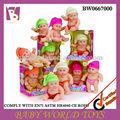 Venta caliente 24cm pequeña muñeca de vinilo sin batería, baratos para bebés reborn muñecas