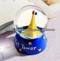 Mini moda elegante bola de cristal de la torre Eiffel bola de la música