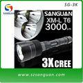 3000lumens Cree XML T6 LED recargable brillante linternas led baratas SG-3K