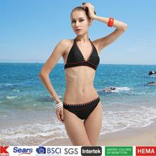 2014 venta al por mayor nuevo traje de baño de mujer triangl bikini traje de baño de dos piezas de ropa de playa sexy