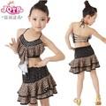 leopardo de disfraz infantil rendimiento impresa vestido de baile latino chicas