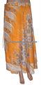 faldas para mujer reversible dos capas de seda falda envolvente