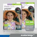 180g papel fotográfico de alta brillante de inyección de tinta y papel (A4 * 20), fabricante profesional