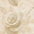 3d telhas de mármore com belas imagens de flores