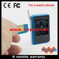 2013 última pantalla táctil de teléfono inteligente gsm reloj + MP4 + FM + Bluetooth