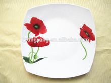 """Cerâmica 10.75"""" quadrado prato de sopa, prato de porcelana profunda"""