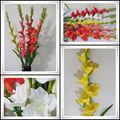 Decorativo flor artificial orquídeas 9 cabezas gladiolos/falsos en el precio de fábrica& para el hotel y el hogar.