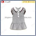 Personalizado planície crianças vestido de algodão/menina 2 anos antigos vestidos modelo