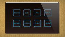 Toque interruptor de/teléfono wifi controlado interruptor de la luz 220v