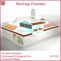 De haute qualité mdf et contreplaqué de bois fast food kiosque pour hot dog, gaufre, snack, automatiques donut