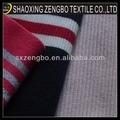 de algodón costilla de banda de tela de tejido de punto