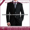 de los hombres clásicos dos botones de trajes de lana / poliéster traje de negocios mezcla de alta calidad de negocios