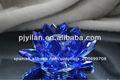 hermoso corte de cristal de cristal de flores de loto para centros de mesa de la boda