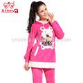 venta al por mayor de moda nuevo diseño de invierno de terciopelo cómodo baratos mujer pijamas divertido