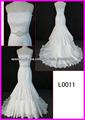 2014 guangzhou muestra real con cable de encaje sexy sirena vestidos de novia / vestido de novia con Swarovski cinturón L0011