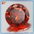 El precio de fábrica de color naranja piedra preciosa redonda