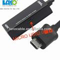 fuente de la fábrica de entrada hdmi a micro usb y adaptador de salida de cable