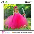 color de rosa caliente girl tutu vestidos para los bebés con punto blanco tapa del tanque