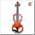 ébano peças de madeira maciça 4/4 violino elétrico com caso(VE008)