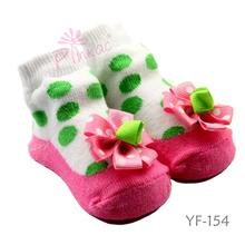 de colores de la tela de algodón de bebé calcetines con 3d patrón