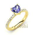 Nuevo diseño de oro dedo anillo en forma de corazón tanzanite anillo de compromiso hg313- tanzanita