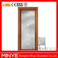 porta de vidro PVC decorativo interior porta do banheiro do PVC