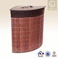 Magzine 2014 estilo! Plegable contenedor para la ropa sucia/caja de almacenamiento/plegable de bambú de lavandería cesta