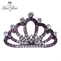 moda partido corona de princesa para la venta de diamantes de imitación hecha a mano baratos corona de princesa para las niñas