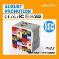 Longrich plug-industrial scoket, hot plug adaptador para a ue/uk/nos/aus