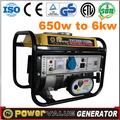generación 650w gasolin generador 220v 50hz de generación de energía del dínamo de dos ruedas partes