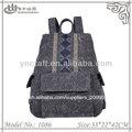 vintage negro mochila de lona de venta al por mayor