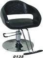 Usado cadeira de barbeiro leopardo salão cadeiras(0135)