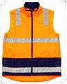 de alta calidad de color naranja reflectante de alta visibilidad chaleco de seguridad