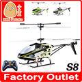 Mini Helicóptero S8 3CH RC com Infrared remoto controle brinquedo com luz