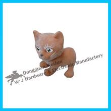 Otro de los animales juguetes, personalizados estilo de juguete, de plástico gato elhombredejuguetes