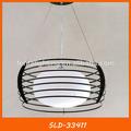 Blanco vidrio bola colgante de la lámpara con pantalla de la lámpara de hierro sld-33411