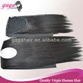cola de caballo la extensión del pelo negro para las mujeres
