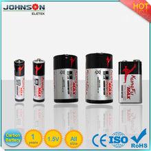 1.5 voltios batería de carbon