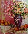 Caliente vendiendo flores en los floreros de la pintura al óleo para decro de