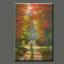 Hermosos paisajes naturales de alta calidad pura a mano- pintura al óleo pintado pintura decoración del hogar