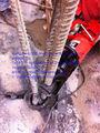 doblando el tubo de acero