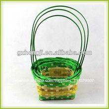 de bambú natural cestas de pascua venta al por mayor