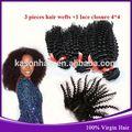 baratoel mejor calidad virgen brasileño rizado armadura del pelo negro natural
