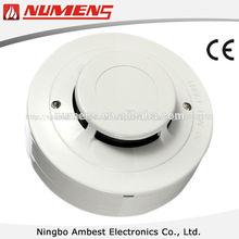 2- alambre de detector de humo óptico con indicador remoto
