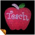 maçã vermelha projeto hotfix strass custom transfer camisetas para decoração