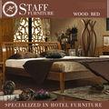 los tipos de la perfección moderno con estilo cama doble de madera