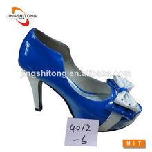 las señoras de moda de tacón de color azul real para mujer zapatos de vestir