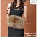 CDB049 2014 Venta caliente más caliente bolsa de piel de mapache de piel de zorro mano genuina