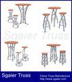 mobiliário truss mesa de bar cadeira bar